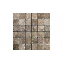 Travertine Tumbled Mosaic - Siva Noce (Send Sample)