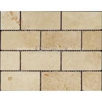 Mosaic Travertine Tumbled Lydia Classico (Brick)